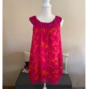 Cabi Pink and Orange Tunic Top Size Large